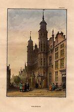 Danzig Gdańsk ORIGINAL 1860 Stahlstich steel engraving  Polen Polska