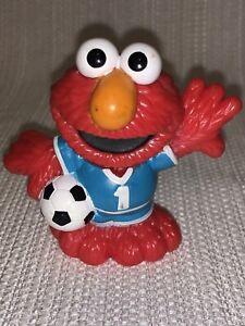 Sesame Street Workshop Elmo PVC Figure Figurine Soccer Hasbro 2011