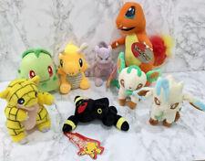 Pokemon Plush Bundle Toys x 8 Inc Mewtwo Sandshrew Various 1998 -2020
