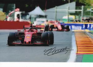 Charles Leclerc hand signed photo. Ferrari 2019 GP Belgium