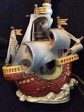 PRE 1940 GERMAN PORCELAIN PIRATE SHIP LAMP