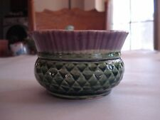 Vintage Small Round 2-Tone Planter Made in Scotland, 3 x 4