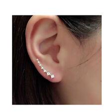 Earrings Cuff Climber Pins Sexy Sparkles Ear Climbers/Ear Crawlers