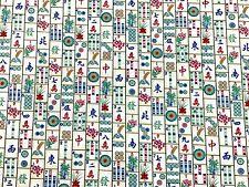 RPG651D Mah Jong Tiles Mahjongg Asian Qing Dyn Chinese Game Cotton Quilt Fabric