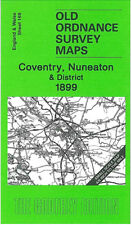OLD ORDNANCE SURVEY MAP COVENTRY NUNEATON MERIDEN HINCKLEY & DISTRICT 1899