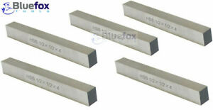 5 Pc 1/2'' x 1/2'' x 4'' HSS Square Tool Bit Lathe Fly Cutter Mill Blank