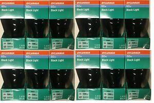 12 Pack Sylvania 60 Watt  Incandescent Black Light Bulbs Blacklight