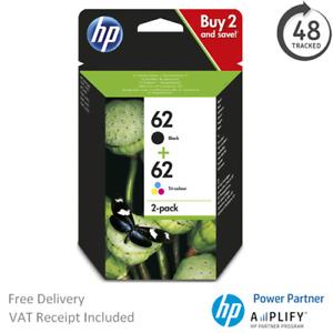 Original HP 62 Black & Colour Ink Cartridge N9J71AE Multipack C2P04AE / C2P06AE