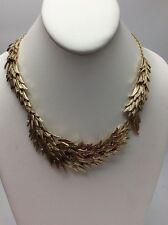 Betsey Johnson Angel & Wings Feathered Collar Necklace Necklace GoldTone BA-2