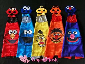 Street Monster Cape and Mask Costume,Birthday Party Supplies Favors Gift
