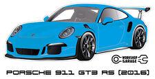 New! Collectable Sticker Porsche 911 GT3 RS 2016 BLUE