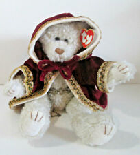 Ty Attic Treasures Gem Curly Ivory Jointed Teddy Bear Plush 13""