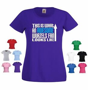 'This is what an Awesome Wurzels Fan Looks Like' Funny Ladies The Wurzels Tshirt