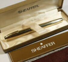 VINTAGE c1980 SHEAFFER FOUNTAIN PEN 14ct GOLD nib & GOLD PLATED CASE in its case