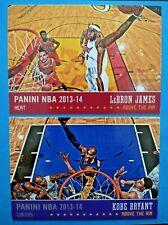 2013-14 NBA Panini LeBron James & Kobe Bryant Above The Rim Los Angeles Lakers