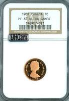 1981 CANADA CENT NGC MAC PR67 RD UHCam ULTRA HEAVY CAM   *