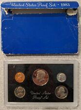 1983 US MINT PROOF SET COIN SOUVENIR, ORIGINAL BOX