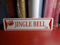 Jingle Bell Drive  ALUMINUM STREET SIGN Free shipping Christmas Decor