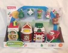 Fisher Price Little People Christmas Village Town 2013 Santa Elf Tree Mrs Deer