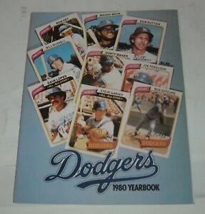 LOS ANGELES DODGERS 1980 YEARBOOK MLB SOUVENIR MAGAZINE DON SUTTON RON CEY