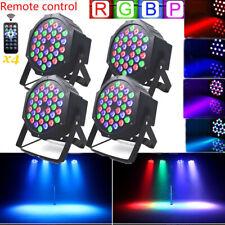 4PCS 72W 36 LED PAR Light RGBW Stage Lighting W/Remote DMX Party DJ Disco Lights