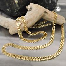 585 Gelbgold Collier Doppelpanzer 3,7mm 14Kt GOLD 50cm Halskette Goldkette Kette