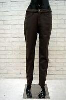 Pantalone ROCCOBAROCCO Vita Alta Donna Taglia 47 Jeans Pants Woman Marrone