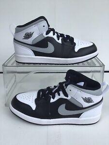 Nike Air Jordan 1 Mid (PS) 'White Shadow' Black-White Sz.2Y=W.3.5 (640734-073)