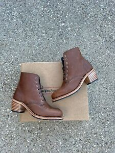 Red Wing Heritage Clara Boots 3406 Women's US 9 B Amber Harness Lace Up