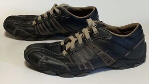 Sketchers Leather Oxford Style Men's Casual Sneakers Brown SN62607 Size 9.5