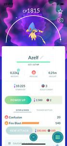 Shiny Azelf - shiny lake trio -mini acc ptc - Pokemon Go - Description