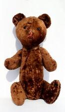 20in Big Vintage Antique Plush USSR Soviet Steiff Teddy Bear Growl Straw Filled