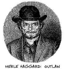 Vintage R. CRUMB 'MERLE HAGGARD' SHIRT!  L  -  Outlaw Country