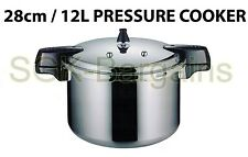 28cm / 12L Aluminium Kitchen Pressure Cooker With Gasket  & Steamer High Quality