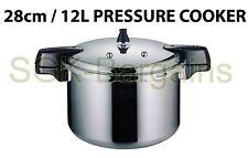 28 cm/12 L Aluminium Cuisine Autocuiseur avec joint d'étanchéité & Vapeur Haute Qualité