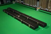 Peradon Dark Brown 3/4 Real Leather Snooker/Pool Cue Cases Chesworth Cues