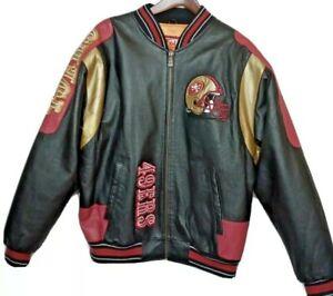RARE GIII Carl Banks 90s Mens M San Francisco 49ers NFL Football Leather Jacket