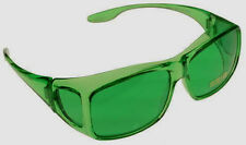 MEDIUM FITS OVER Green Color Therapy Glasses Poker Sunglasses Mens Womens