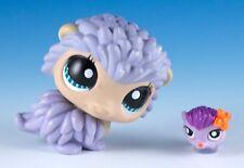 Littlest Pet Shop Porcupine #1186 Lavender Purple With Aqua Eyes + Tiny Teensies