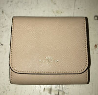 Coach Crossgrain Leather Trifold Coin Pocket  Wallet No. F57584  NWOT