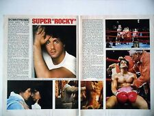 COUPURE DE PRESSE-CLIPPING : Sylvester STALLONE Rocky [2pages] 01/1977 Boxe