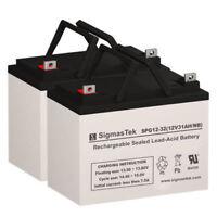 Replacement GEL Battery Set By SigmasTek for Bruno PWC 2300/2310 U1