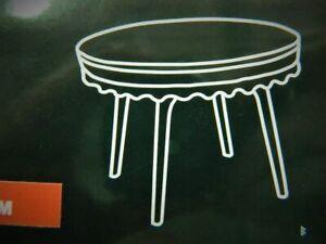 nappe transparente ronde 100cm plastique avec dentelle anti-tâche, imperméable