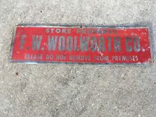 Vintage F W Woolworth shopping cart advertising sign