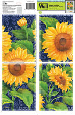 SUNFLOWER Tiles Squares Collage Wall Art Decals Appliques Stickers Peel & Stick