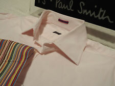 """PAUL SMITH Mens Shirt 🌍 Size 15.5"""" (CHEST 44"""") 🌎RRP £95+📮 PLAIN ICONIC CUFFS"""
