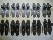 More details for 10 pairs original reclaimed art deco 1920`s 30`s hardwood hex door knobs 0139