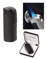 Passatore Zigarren Feuerzeug Lack schwarz 3fach Jetflamme mit Zigarrenbohrer