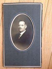 Antique Cabinet Card Photo EDWARDIAN GENTLEMAN St. Charles MO In Folder