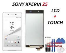 LCD PER SONY E5823 XPERIA Z5 E6603 E6653 E6683 DISPLAY TOUCH SCREEN BIANCO NUOVO